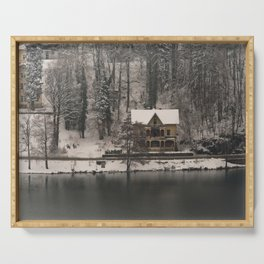 House On Lake Bled Serving Tray