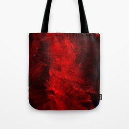 Red Abstract Paint Tote Bag