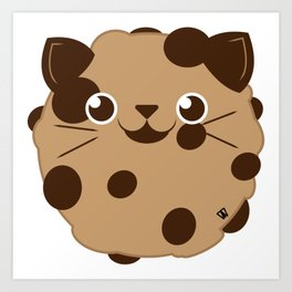 Chococat Chip Cookie Art Print