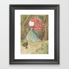 Merida in the forest Framed Art Print