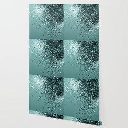 Teal Mermaid Ocean Glitter #1 #shiny #decor #art #society6 Wallpaper