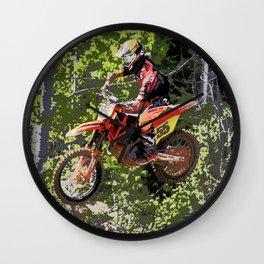 High Flying Racer - Motocross Champ Wall Clock