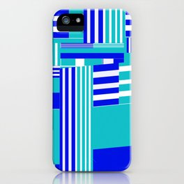 Stripy blue sea iPhone Case