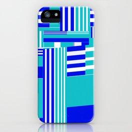 Stripy blue sea iPhone Case