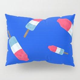 Popsicles - Retro Pattern - (cobalt blue background) Pillow Sham