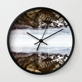 Surreal moutain reflection Wall Clock