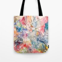 moon phase Tote Bags featuring Phase by Tiffany Tremaine (birdy)