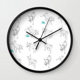 Karson the Chihuahua Wall Clock
