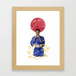 Asian Lotus Framed Art Print