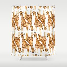 Short Legged Giraffe Shower Curtain
