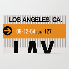 LAX Los Angeles Luggage Tag 2 Rug