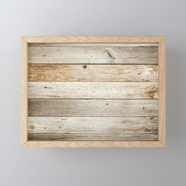 Rustic Barn Board Wood Plank Texture Framed Mini Art Print