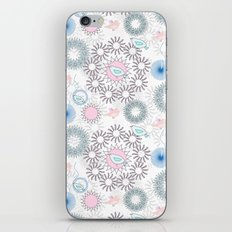 Birds and flowers pattern iPhone & iPod Skin