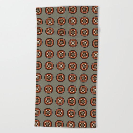 Mandala earth colors Beach Towel