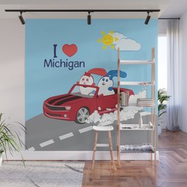 Ernest and Coraline | I love Michigan Wall Mural