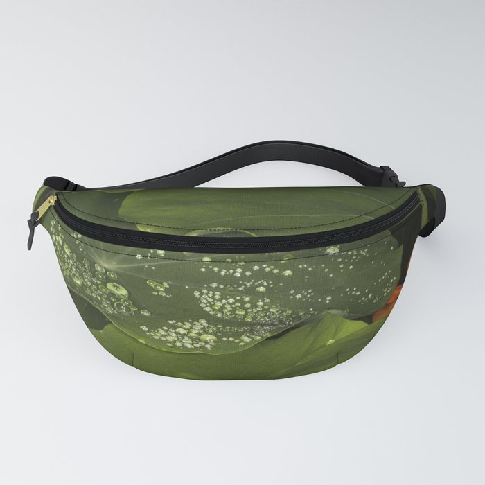 Raindrops on leaves Fanny Pack