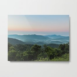 The Morning Mists Metal Print