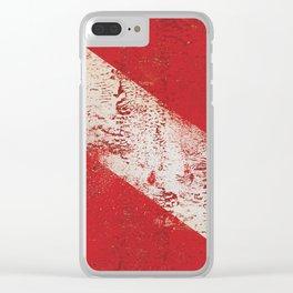 Scuba Diver Flag Clear iPhone Case