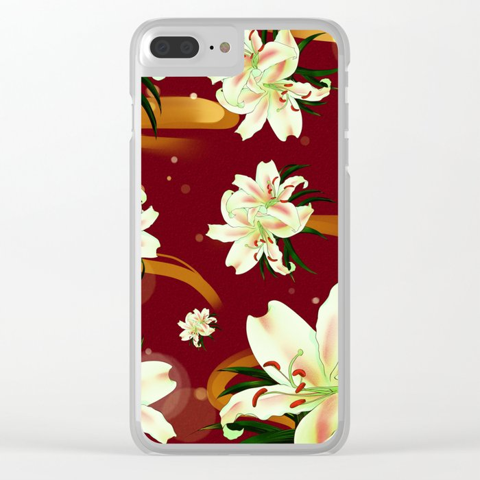 Water Lily Blossom Wonderland Clear iPhone Case