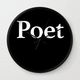 Poet inverse Wall Clock