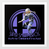 super smash bros Art Prints featuring Sheik - Super Smash Bros. by Donkey Inferno