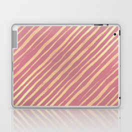 Pink Passion Gold Stripes Laptop & iPad Skin