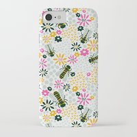 bees iPhone & iPod Cases featuring Bees by Yellow Button Studio