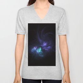 black holes colliding Unisex V-Neck