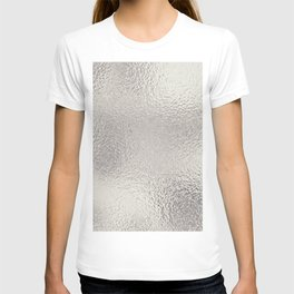 Simply Metallic in Silver T-shirt