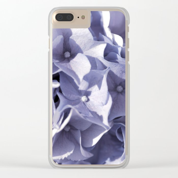Delightful lilac hydrangea- Flower Floral Clear iPhone Case
