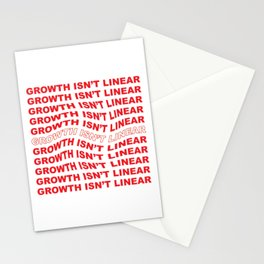 Growth Isn't Linear Stationery Cards