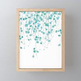 string of hearts watercolor Framed Mini Art Print