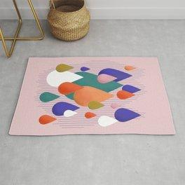 Colorful Raindrops Rug
