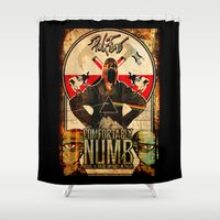 floyd Shower Curtains featuring Pink Floyd illustration mix by aceofspades81