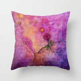 The Little Prince's Planet Throw Pillow