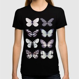 Black and white marble butterflies T-shirt