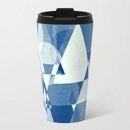 Geometric - Deko- blue Travel Mug