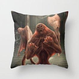 Silent Screamer Throw Pillow