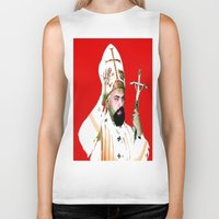 chad wys Biker Tanks featuring pope chad by Chad M. White