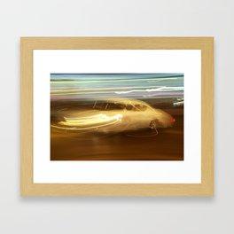 Night Slalom - Lancia Aurelia Framed Art Print