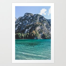 One day at an alpine lake in north Italy. Art Print