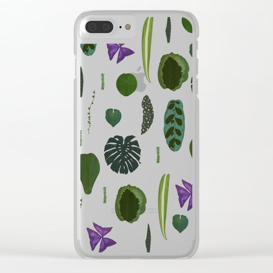 A non-scientific botanical investigation of the indoor plant. Clear iPhone Case