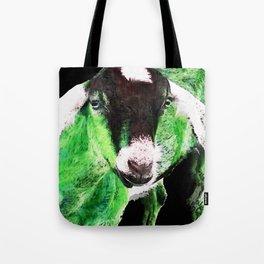 Goat Pop Art - Green - Sharon Cummings Tote Bag