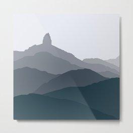 Black Tusk Mountain, Whistler Canada in green Metal Print
