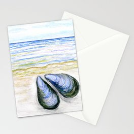 Blue mussel Stationery Cards