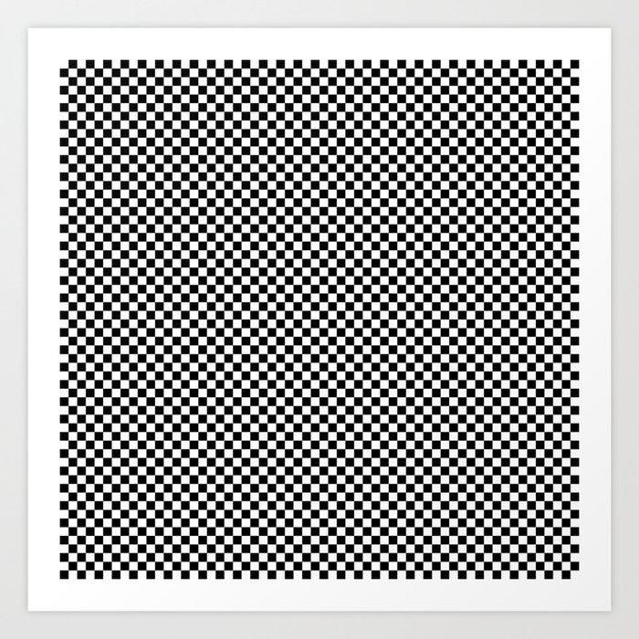 Small Black And White Check Art Print By Podartist Society6