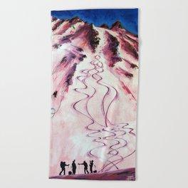 Apres Alpenglow Beach Towel