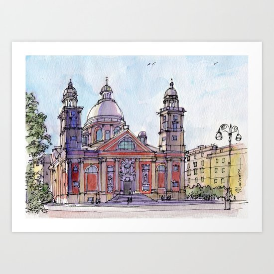 Chiesa a Carignano (Genova) Art Print