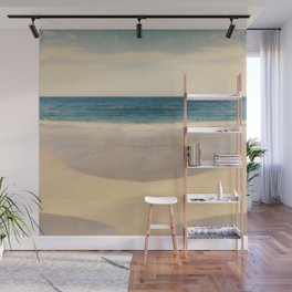 Vintage Beach Photographic Pattern #1 Wall Mural