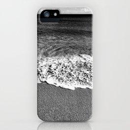 Minimalist Black and White Beach iPhone Case
